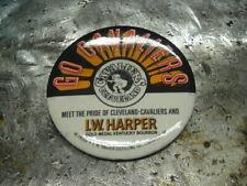 "1970's Cleveland Cavs Cavaliers LW Harper Bourbon 3"" Logo Pinback Pin"