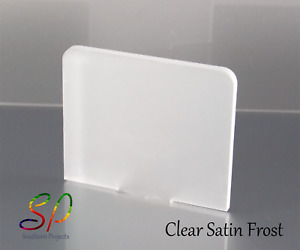 Frosted Clear Acrylic 1mm & 3mm Cast Acrylic Sheet in a Clear Satin Frost