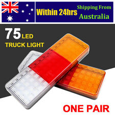 2x 75 LED Tail Lights Ute Trailer Caravan Truck Boat Stop Indicator 12-24V