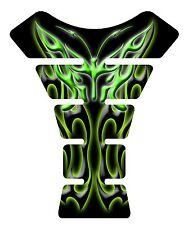 Flaming Butterfly Green Black Motorcycle Gel Gas Tank Pad Tankpad Protector