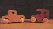Hand Crafted Wooden toy cars and trucks.