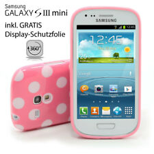 Samsung S3 Mini Galaxy i8190 Tapa Trasera Lámina Protectora Carcasa Rosa Blanco