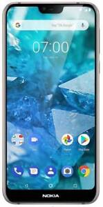 """New Nokia 7.1 Unlocked Dual SIM 4G LTE-5.84"""" Full HD+ Display Android One"""