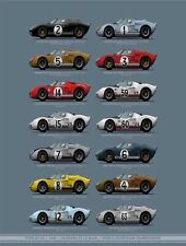1966 Ford GT40 24 Hours of Lemans World Championship 13x18 inch Poster-Free Ship