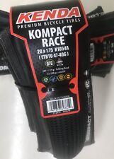20� Folding Tire Kenda Kompact Race Protect Liner 100 Psi Fast Recumbent, Bmx