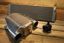 Premium Aluminium Water to Air Intercooler Kit + Long Heat Exchanger