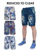 Jacksouth Mens Hawaiian printed Twill Summer Casual Bermuda Shorts
