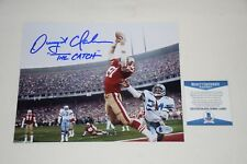 SAN FRANCISCO 49ERS DWIGHT CLARK SIGNED AUTOGRAPHED 8x10 PHOTO BAS C44883 proof