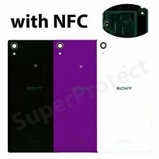 Sony Xperia Z2 Rear Glass Back Panel Battery Cover plate NFC LENS D6502 D6503