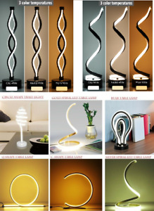 NUUR Table Lamp Curved Desk Light Bedside Bedroom Lamp Warm Creative Spiral  LED