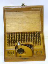 Relojeros Hecho en Suiza Conjunto de herramientas de demarcación de Calidad en Caja Grande Y Punzones/Estacas