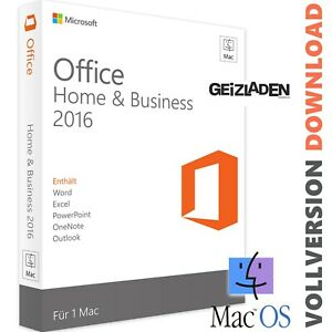 Microsoft Office Mac - 2016 Home & Business - Lifetime - Vollversion macOS