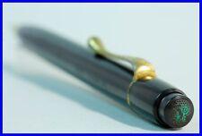 """1930ies Pelikan 200 push pencil / BLACK + GOLD / old LOGO / """"AUCH Pelikan"""""""