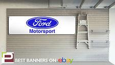 FORD MOTORSPORT 1970s retro look pvc Workshop / Garage Banner, Escort, RS2000