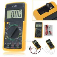 DT-9208A Digital Multimeter Volt Amp Ohm LCD AC/DC Temperature Meter Hz Tester