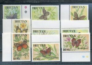 464004) Bhutan Nr. 1244-1252 **, Schmetterlinge