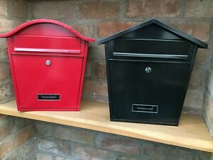 NEW IN MODERN GALVANISED POWDER COATED STEEL POST BOX CHOICE OF COLOUR & STYLE