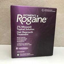 Women's Rogaine 2% Minoxidil Topical Solution, 3-Month Supply - NEW!!!