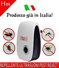 INSETTICIDA ANTI ZANZARE SCACCIA TOPI INSETTI REPELLENTE ULTRASUONI PEST REJECT