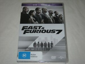 Fast And Furious 7 - Vin Diesel - Brand New & Sealed - Region 4 - DVD
