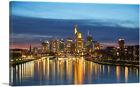 ARTCANVAS Frankfurt Germany Sunset Skyline Canvas Art Print