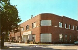 Seaford Sussex Delaware Municipal Building Pine King St 1950s Postcard AC