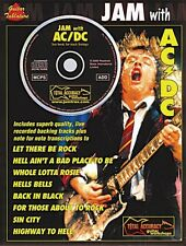 Jam with AC DC Sheet Music Book and CD NEW 014016869