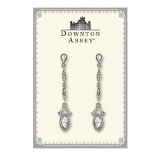 The Downton Abbey Collection White Crystal Linear Drop Earrings 17527