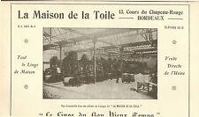 BORDEAUX PUBLICITE LA MAISON DE LA TOILE LINGE DE MAISON 1929