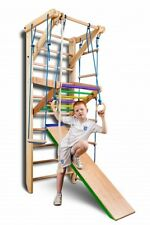 Wall Bars Children Home Gym Swedish Ladder Sport Wooden Adults Kids Toys Workout