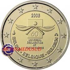 2 Euro Commémorative Belgique 2008 - Droits de l'Homme