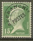 """FRANCE STAMP TIMBRE PREOBLITERE N° 65 """" PASTEUR 15c VERT"""" NEUF xx SUP"""