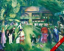 TENNIS AT NEWPORT RHODE ISLAND GEORGE BELLOWS PAINTING ART REAL CANVAS PRINT