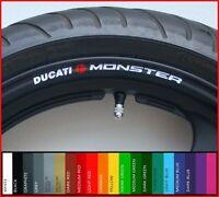 8 x DUCATI MONSTER Wheel Rim Stickers Decals - 20 Colors - m600 m695 m900 m750