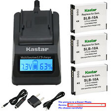 Kastar Battery LCD Fast Charger for Samsung SLB-10A & Samsung P800 P1000 PL50