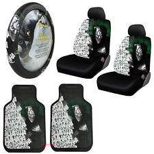 Suicide Squad Joker Car Truck Front Seat Covers Floor Mats Steering Wheel Cover