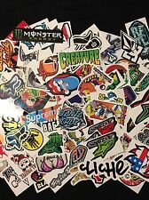 STICKERBOMB x 50 STICKER PACK SKATEBOARD SNOWBOARD SURF ENERGY DRINK MX STICKERS