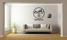 Hermes Logo Brand Wall Decal Decor For Car Home Laptop Brand Luxury X-Large