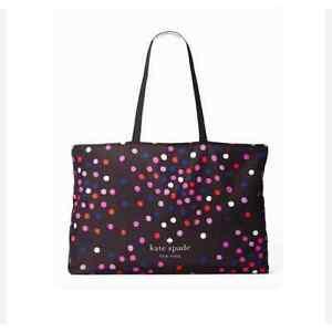 Gold dots on Purple /& Brown Reversible Crossbody Bag