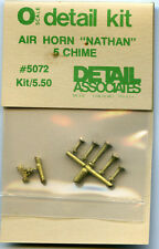 """Detail Assoc. O scale 5072 Air Horn """"Nathan"""" 5 Chime - NOS"""