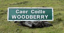 Original Irish Vintage street sign for Woodberry, sign for pub,