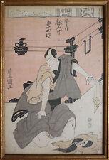authentique Estampe japonaise de UTAGAWA TOYOKUNI (1769-1825) 18e siècle