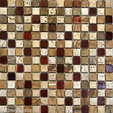 1SF-Metallic Golden Brown Beige Ceramic Mosaic Tile Backsplash Kitchen Spa Sink
