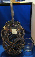 Candle holder willow lantern hanging candle holder