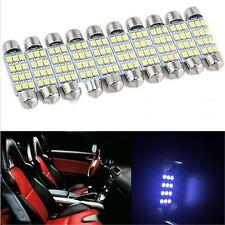 10Pcs Car Dome 12 3528-SMD LED Bulb Light Interior Festoon Lamp 42mm Day White