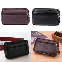 Zipper Men Soft PU Leather Purse Clutch Card Holder Coin Waist Handbags Wallets
