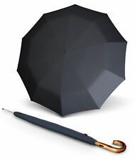 Knirps S.770 Long Automatic Regenschirm Men's Prints Pattern Schwarz Grau