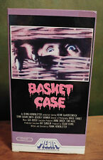 BASKET CASE Horror VHS Tape MEDIA 1983 Cult Frank Henenlotter Uncut Sleeve