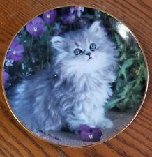 Franklin Mint Lt Ed Plate- Purrfection! by Nancy Matthews - Cat