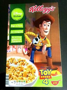 KELLOGGS EMPTY BOX TOY STORY 4 SHERIF WOODY COLLECTOR ITEM